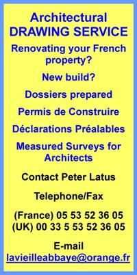 Peter Latus,Dordogne,Limousin,France,English,architectural drawing service,renovating property in France,new build,dossiers prepared,permis de construire,declaratioins prealables,measured surveys for architects,English spoken