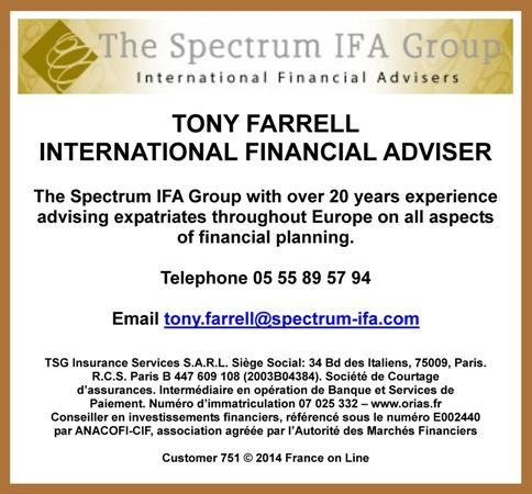Tony Farrell,independent financial adviser,Spectrum IFA Group,financial planning,Creuse,Limousin