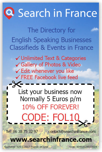 Search in France,directory for English speaking business,classifieds,events