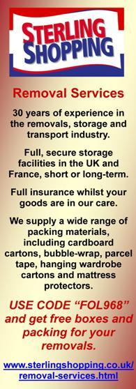 Sterling Shopping,Removal Services,transport,removals,storage,storage uk,storage France,fully insured,packing materials,cartons,bubble wrap,parcel tape,hanging wardrobe,mattress protectors,delivery service to France,removals to France,removals to UK,delivery service to UK